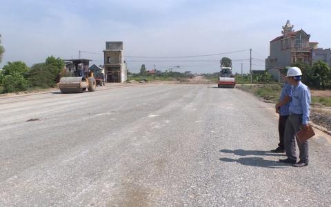 Đẩy nhanh tiến độ thi công tuyến đường liên tỉnh nối đường vành đai 5 với cao tốc Hà Nội – Hải Phòng