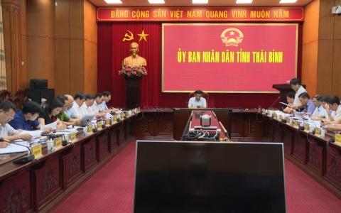 Chủ tịch UBND tỉnh nghe báo cáo tình hình thực hiện xây dựng huyện nông thôn mới