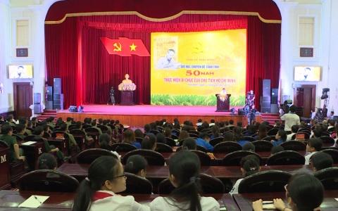 """Thái Bình tổ chức Giờ học toàn tỉnh """"50 năm thực hiện Di chúc của Bác"""""""