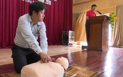 Tập huấn phòng ngừa ứng phó thảm họa và sơ cấp cứu ban đầu