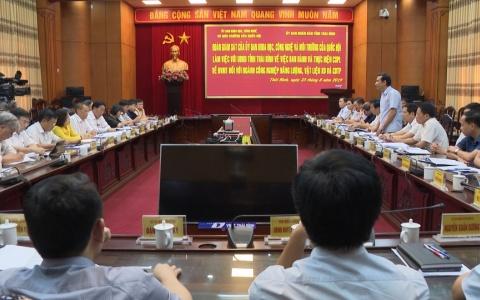 Thái Bình thực hiện chính sách pháp luật về bảo vệ môi trường trong một số ngành công nghiệp
