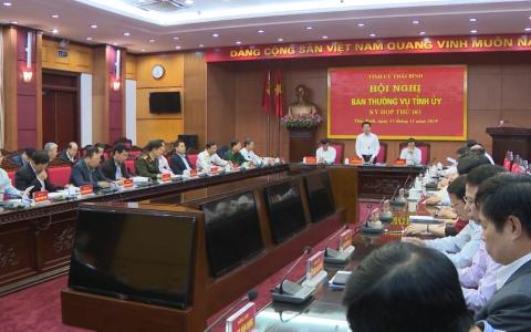Kỳ họp thứ 103 Ban Thường vụ Tỉnh ủy nghe và cho ý kiến về tình hình phát triển kinh tế - xã hội