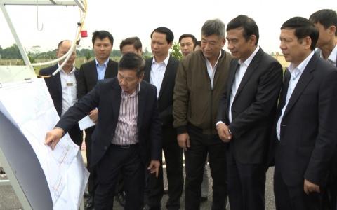 Kiểm tra xây dựng hạ tầng và thu hút đầu tư thứ cấp cụm công nghiệp Đô Lương