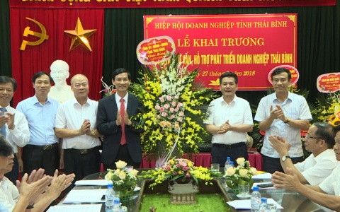 Khai trương Trung tâm tư vấn. hỗ trợ phát triển doanh nghiệp Thái Bình