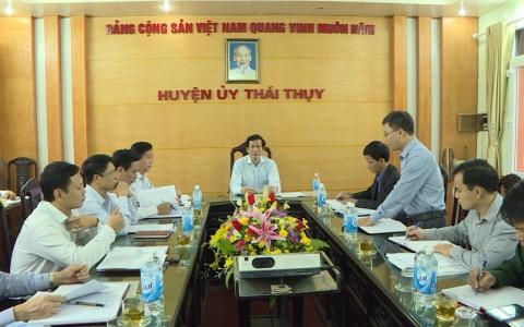 Kiểm tra việc thực hiện Nghị quyết số 01-NQ/TU tại huyện Thái Thụy