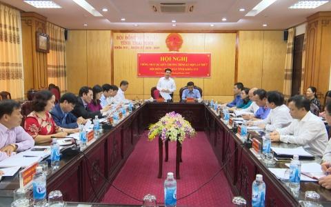 Thống nhất dự kiến chương trình Kỳ họp thứ 7 - HĐND tỉnh khóa XVI