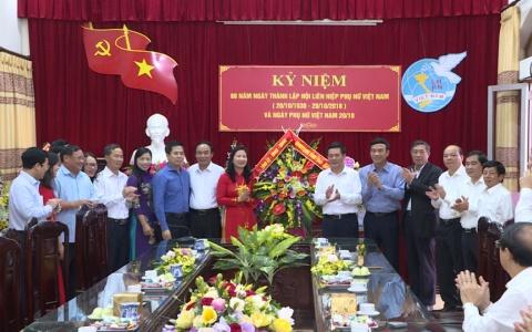 Chúc mừng nhân kỷ niệm 88 năm Ngày thành lập Hội Liên hiệp phụ nữ Việt Nam