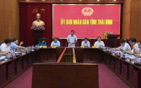 UBND tỉnh Thái Bình nghe kết quả rà soát phân loại đơn vị hành chính các cấp