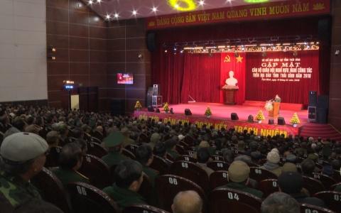 Gặp mặt các cán bộ quân đội nghỉ hưu, nghỉ công tác trên địa bàn tỉnh năm 2018