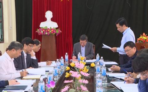 UBND tỉnh làm việc với Ban quản lý dự án đầu tư xây dựng các công trình giao thông tỉnh