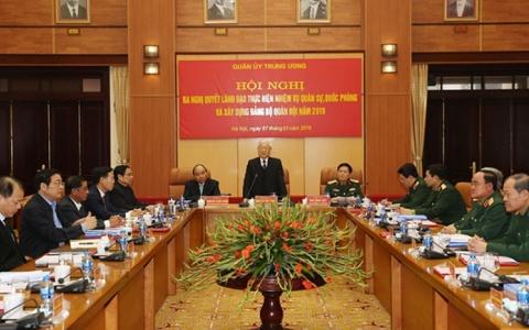 Quân ủy Trung ương tổ chức hội nghị ra Nghị quyết lãnh đạo thực hiện nhiệm vụ năm 2019