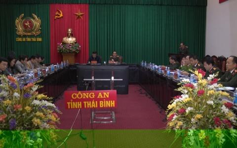 Ban Thường vụ Đảng ủy Công an tỉnh tổ chức hội nghị kiểm điểm tự phê bình và phê bình năm 2018