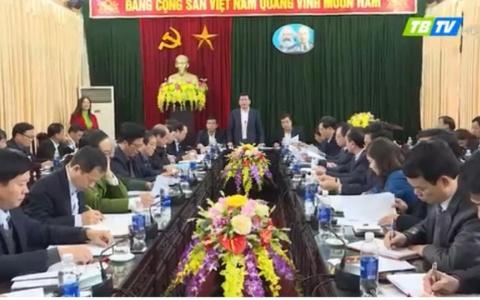 Thường trực Tỉnh ủy làm việc tại huyện Quỳnh Phụ về xây dựng nông thôn mới và tiến độ thực hiện dự án Khu công nghiệp chuyên phục vụ nông nghiệp