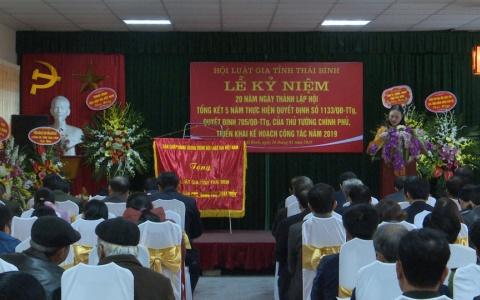 Kỷ niệm 20 năm thành lập Hội Luật gia tỉnh Thái Bình