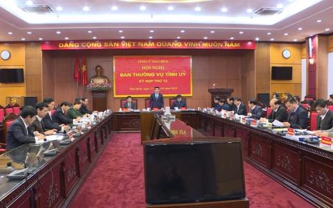 Hội nghị BTV Tỉnh ủy kỳ họp thứ 72