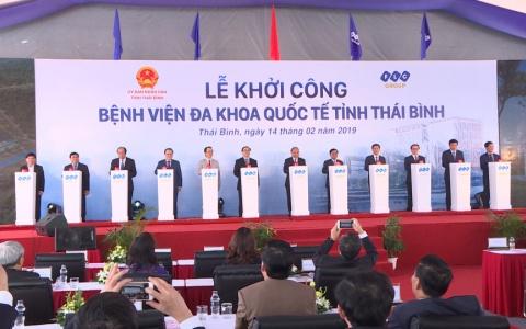 Thái Bình khởi công dự án Bệnh viện Đa khoa Quốc tế Thái Bình, quy mô 1.000 giường bệnh.