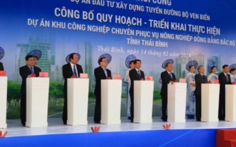 Thủ tướng Chính phủ Nguyễn Xuân Phúc dự Lễ khởi công Dự án đầu tư xây dựng tuyến đường bộ ven biển tỉnh Thái Bình