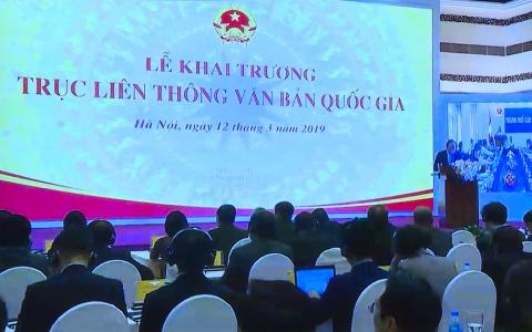 Hội nghị trực tuyến Lễ khai trương Trục liên thông văn bản Quốc gia