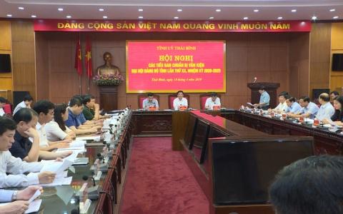 Chuẩn bị văn kiện Đại hội Đảng bộ tỉnh lần thứ XX, nhiệm kỳ 2020 - 2025