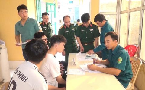 Huyện Thái Thụy: Trên 98% thanh niên lên trạm đăng ký nghĩa vụ quân sự tuổi 17