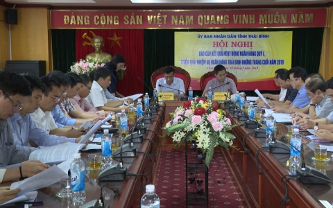 UBND tỉnh làm việc với Ngân hàng Nhà nước Việt Nam chi nhánh tỉnh Thái Bình về kết quả hoạt động ngân hàng Quý I năm 2019