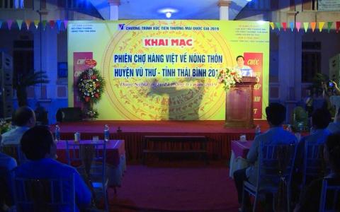 Khai mạc phiên chợ hàng Việt về nông thôn
