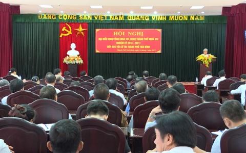 Đại biểu HĐND tỉnh tiếp xúc cử tri thành phố Thái Bình