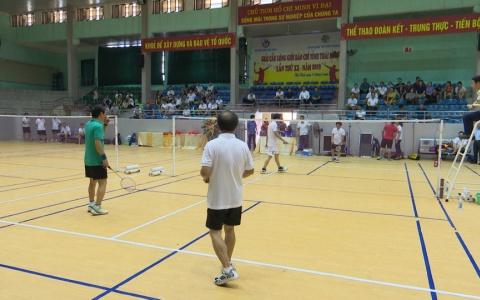 Giải cầu lông giới báo chí tỉnh Thái Bình lần thứ XX