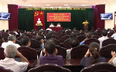 Đồng chí Nguyễn Hồng Diên, Ủy viên Trung ương Đảng Bí thư Tỉnh ủy, Chủ tịch HĐND tỉnh tiếp xúc với cử tri Thành phố Thái Bình