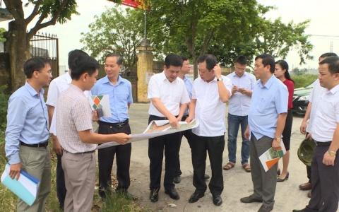 Đồng chí Bí thư Tỉnh ủy kiểm tra tiến độ Công trình trọng điểm