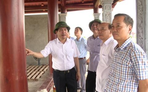 Đẩy nhanh tiến độ thi công xây dựng Khu lưu niệm Nhà bác học Lê Quý Đôn