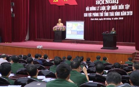 Bồi dưỡng lý luận tập huấn diễn tập khu vực phòng thủ tỉnh Thái Bình