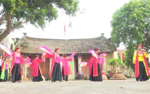 Xã Hòa Bình ( Hưng Hà) chuẩn bị sân chơi Văn hóa làng