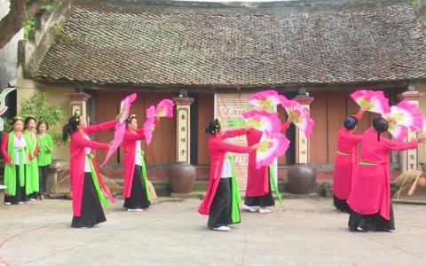 Sân chơi văn hóa làng tại xã Hòa Bình huyện Hưng Hà