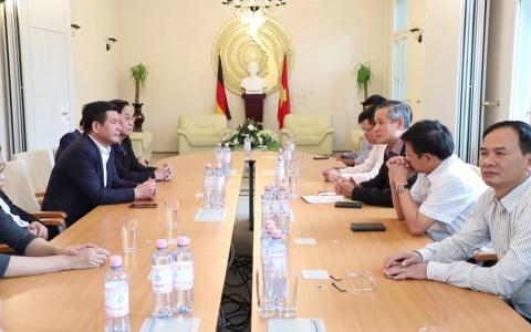 Đoàn công tác Thái Bình làm việc với Đại sứ quán Việt Nam tại Cộng hòa liên bang Đức