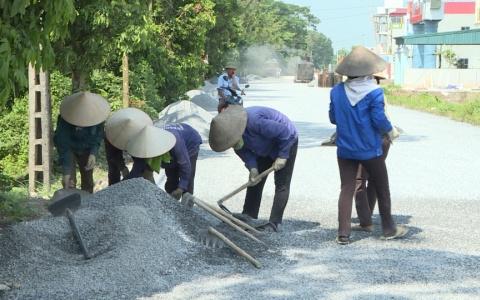 Đẩy nhanh tiến độ dự án nâng cấp mở rộng đường DH45 huyện Đông Hưng