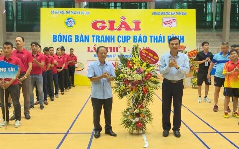Khai  mạc Giải vô địch bóng bàn tranh cúp Báo Thái Bình năm 2019 lần thứ nhất
