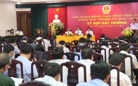 Kỳ họp bất thường HĐND tỉnh Thái Bình nhiệm kỳ 2016-2021