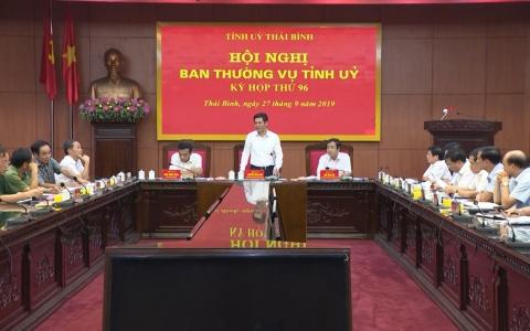 Hội nghị Ban Thường vụ Tỉnh ủy về công tác tổ chức cán bộ