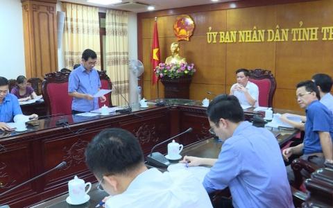 Họp Ban chỉ đạo kiểm kê đất đai tỉnh Thái Bình năm 2019