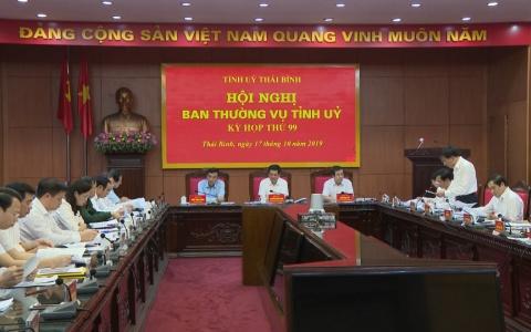 Hội nghị Ban Thường vụ Tỉnh ủy nghe và cho ý kiến một số nội dung