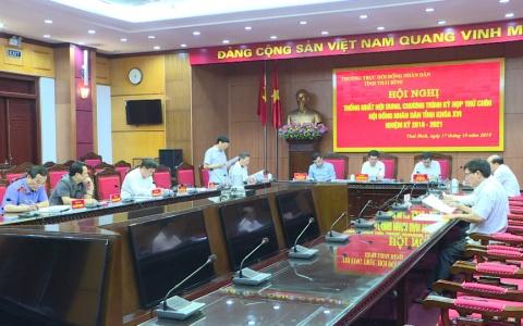 Thống nhất chương trình kỳ họp thứ 9 HĐND tỉnh khóa XVI