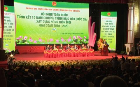 Hội nghị toàn quốc Tổng kết 10 năm chương trình mục tiêu quốc gia xây dựng nông thôn mới