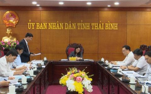 UBND tỉnh nghe báo cáo việc đặt tên đường, tên phố của thị trấn Hưng Hà và Hưng Nhân