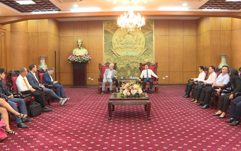 UBND tỉnh tiếp xã giao hội hợp tác kinh doanh nông nghiệp Hà Lan – Việt Nam