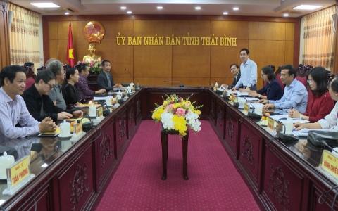 Đoàn công tác Hội Nhạc sỹ Việt Nam tìm hiểu thực tế sáng tác tại Thái Bình