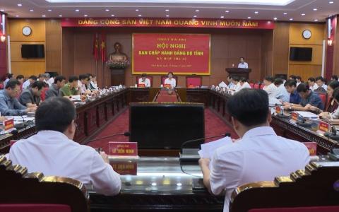 Kỳ họp thứ 45 Hội nghị Ban chấp hành Đảng bộ tỉnh Thái Bình