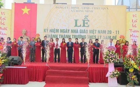 Khánh thành trường THCS Lý Nam Đế xã Hồng Minh huyện Hưng Hà