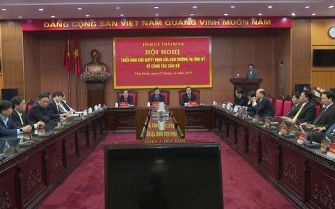Triển khai các quyết định của Ban Thường vụ Tỉnh ủy về công tác cán bộ