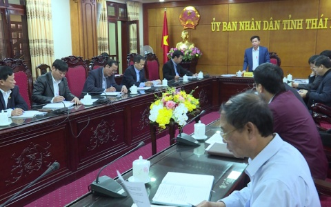 UBND tỉnh nghe báo cáo kết quả giải phóng mặt bằng dự án khu công nghiệp Thaco- Thái Bình